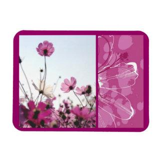 Pink flowers floral nature designer beautiful magnet