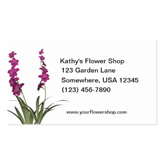 Pink Flowers Florist Shop Double-Sided Standard Business Cards (Pack Of 100)