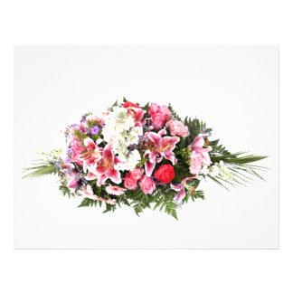 pink flowers flyer design