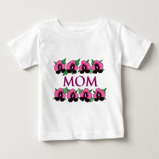 Pink Flowers for Mom Baby T-Shirt