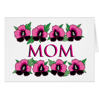 Pink Flowers for Mom Card