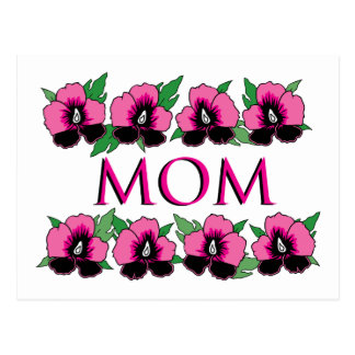 Pink Flowers for Mom Postcard