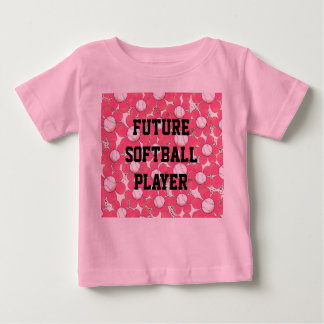 Pink Flowers Future Softball Player Infant Tee
