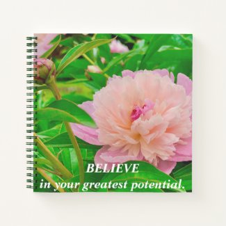 Pink flowers garden flower Rhododendron Believe sm Notebook