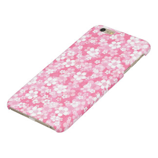 Pink Flowers Glossy iPhone 6 Plus Case