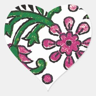 pink-flowers heart sticker
