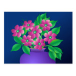 Pink Flowers in a Vase Post Card