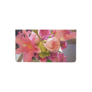 pink flowers in an arrangement photo by bbillips checkbook cover