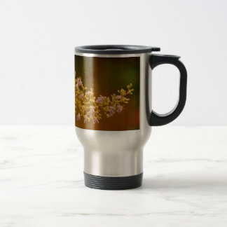 Pink Flowers in Bloom Travel Mug