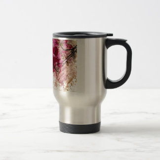 Pink Flowers In Paint 15 Oz Stainless Steel Travel Mug