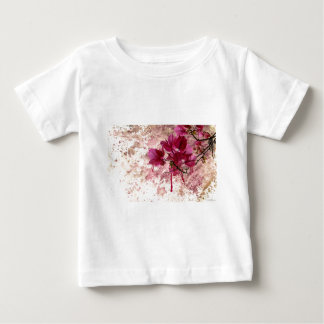 Pink Flowers In Paint Baby T-Shirt