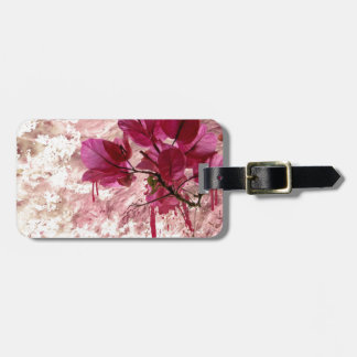 Pink Flowers In Paint Bag Tag