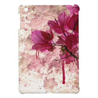 Pink Flowers In Paint Case For The iPad Mini