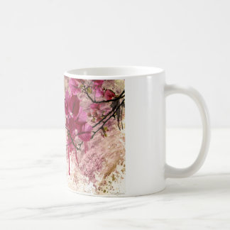 Pink Flowers In Paint Classic White Coffee Mug
