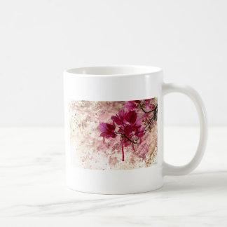 Pink Flowers In Paint Coffee Mug