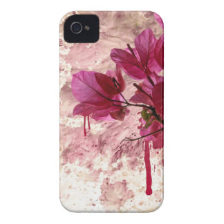 Pink Flowers In Paint iPhone 4 Case-Mate Case