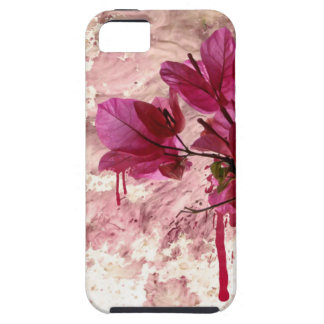 Pink Flowers In Paint iPhone SE/5/5s Case