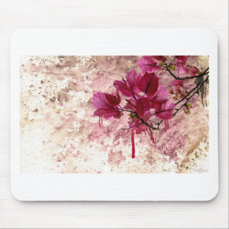 Pink Flowers In Paint Mouse Pad
