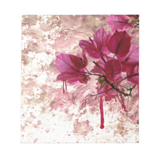 Pink Flowers In Paint Notepad