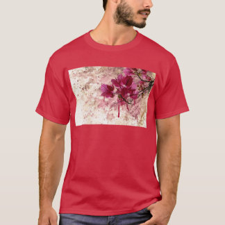 Pink Flowers In Paint T-Shirt