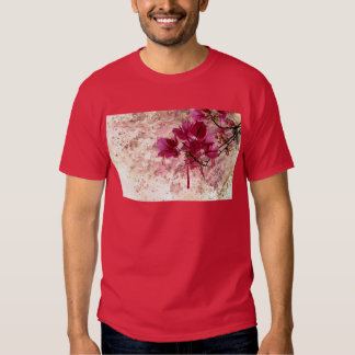 Pink Flowers In Paint T-shirts