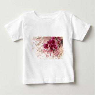 Pink Flowers In Paint Tees