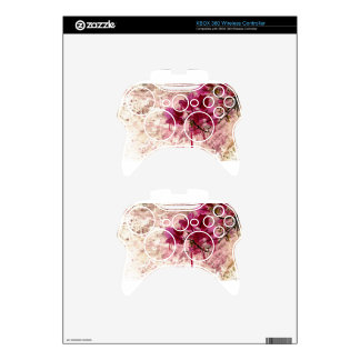 Pink Flowers In Paint Xbox 360 Controller Skin