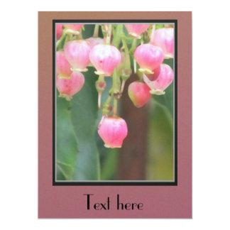 "Pink Flowers 6.5"" X 8.75"" Invitation Card"