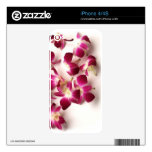 Pink Flowers iPhone 4S Skin