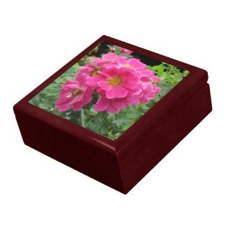 Pink Flowers Jewelry Box