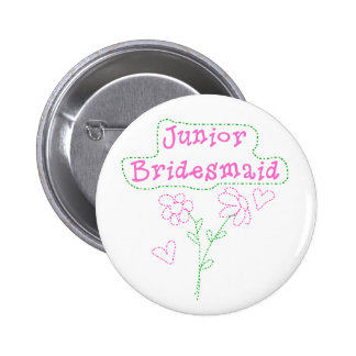 Pink Flowers Junior Bridesmaid Pins