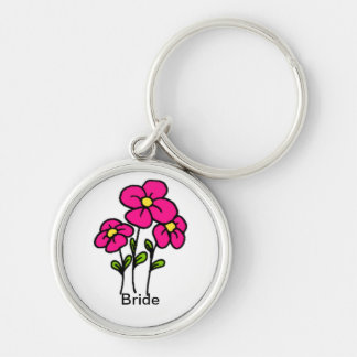 Pink Flowers Keychains