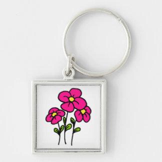 Pink Flowers Keychain