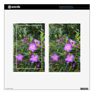 pink flowers kindle fire decal