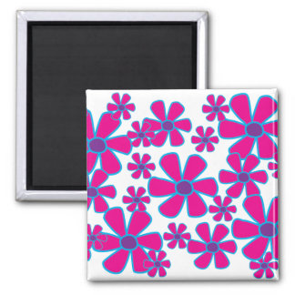 Pink Flowers Magnet