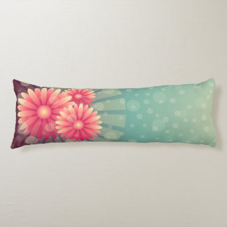 Pink Flowers Body Pillow