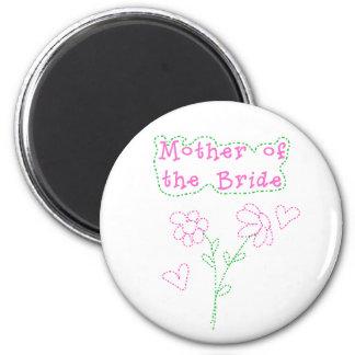 Pink Flowers Mother of Bride Magnet