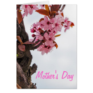 Pink Flowers Mother's Day Card