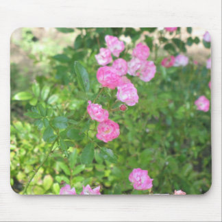pink flowers mouse mats