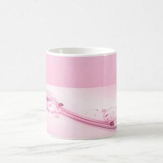 Pink Flowers n Waves Coffee Mug