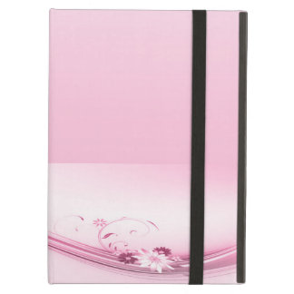 Pink Flowers n Waves Cover For iPad Air