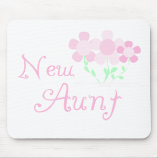 Pink Flowers New Aunt Mouse Pad