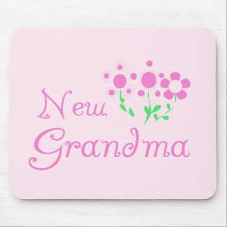 Pink Flowers New Grandma Tshirts and Gifts Mouse Pad