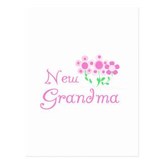 Pink Flowers New Grandma Tshirts and Gifts Postcard