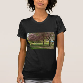 Pink flowers of Prunus protect a children castle T-Shirt