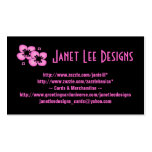 Pink Flowers on Black~Business Card Business Card