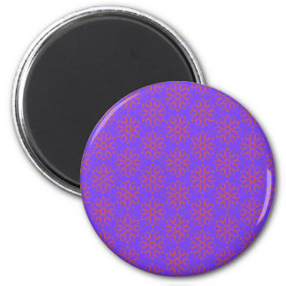 Pink flowers on Purple Magnet