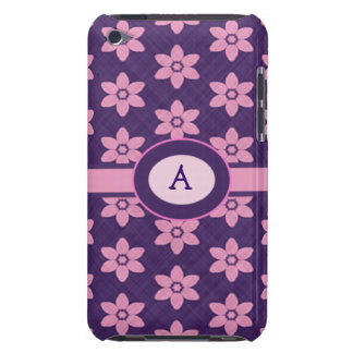 Pink Flowers on Purple Pattern Ipod Touch Case