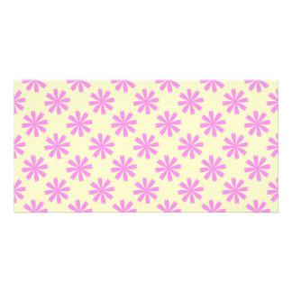 Pink flowers pattern card