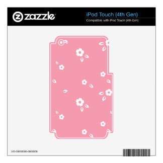 Pink flowers pattern iPod touch 4G decal